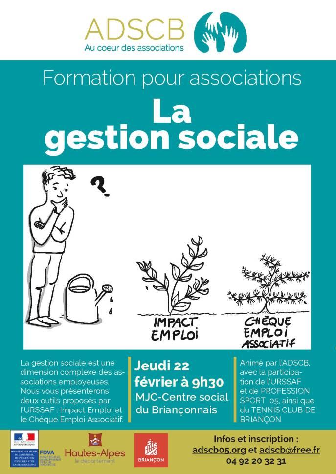 affiche formation gestion sociale