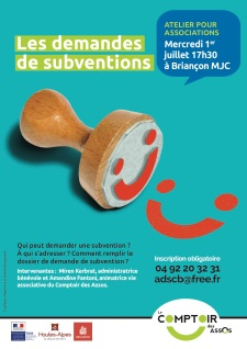 Demandes de subvention affiche